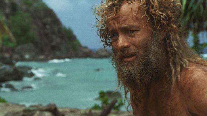 Una scena tratta dal film Cast Away