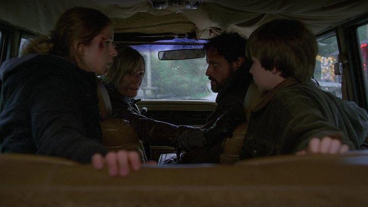 Una scena tratta dal film Snowmageddon