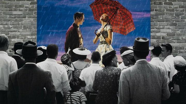 Una scena tratta dal film Pleasantville