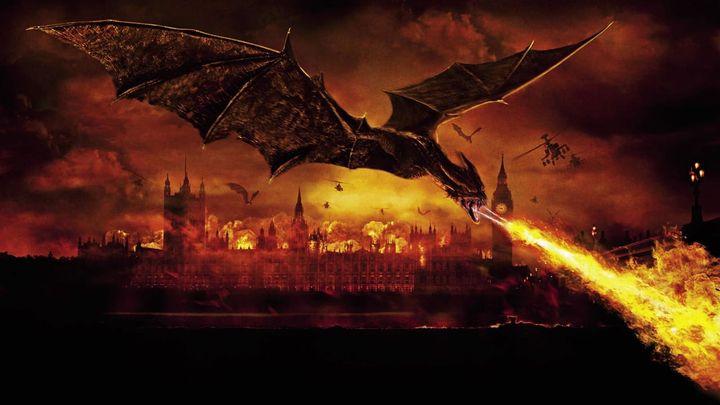 Una scena tratta dal film Il regno del fuoco