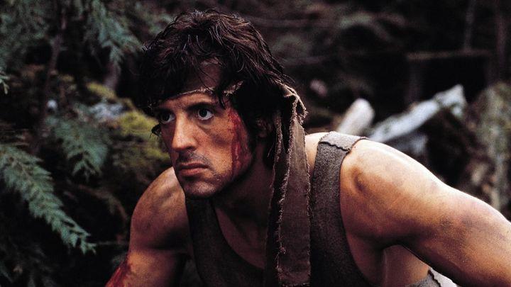 Una scena tratta dal film Rambo