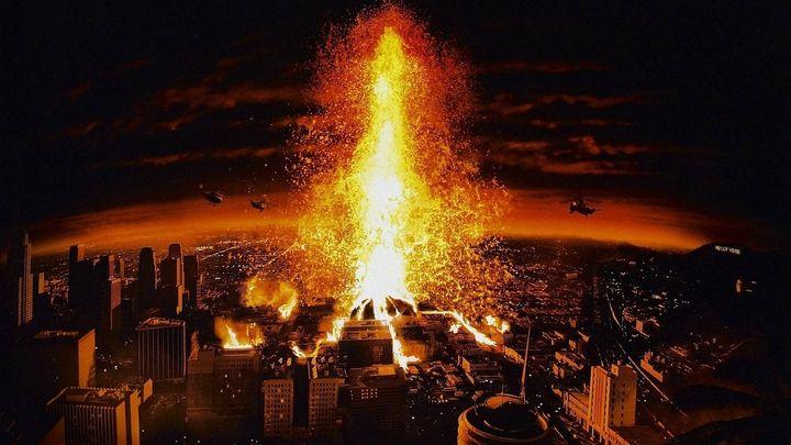 Una scena tratta dal film Vulcano - Los Angeles 1997