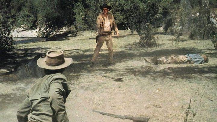 Una scena tratta dal film Il pistolero di Dio