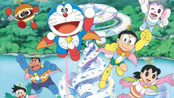 Una scena tratta dal film Doraemon il film: Nobita e gli eroi dello spazio
