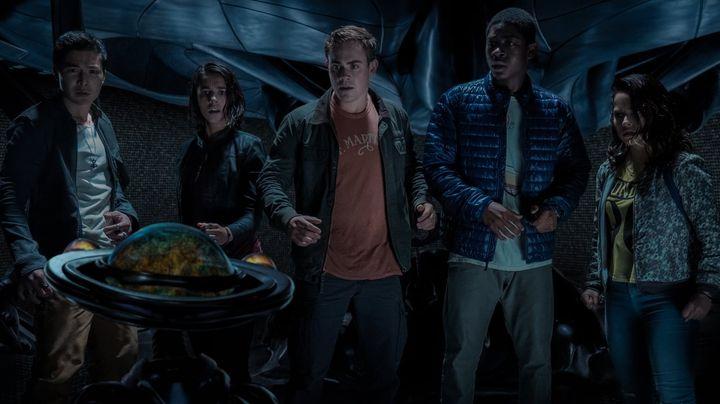Una scena tratta dal film Power Rangers