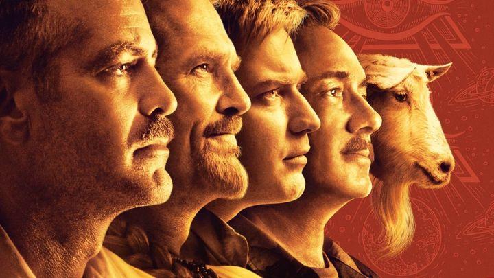 Una scena tratta dal film L'uomo Che Fissa Le Capre