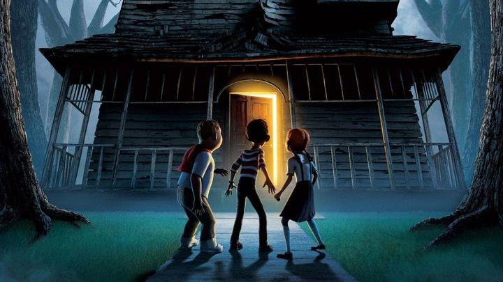 Una scena tratta dal film Monster House