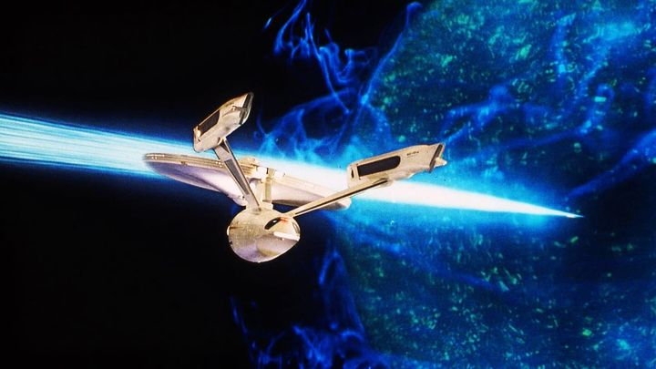 Una scena tratta dal film Star Trek V - L'ultima Frontiera
