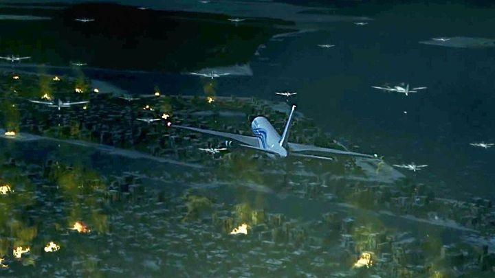 Una scena tratta dal film Flight World War II
