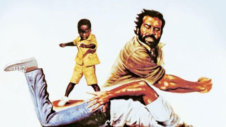 Una scena tratta dal film Piedone L'africano