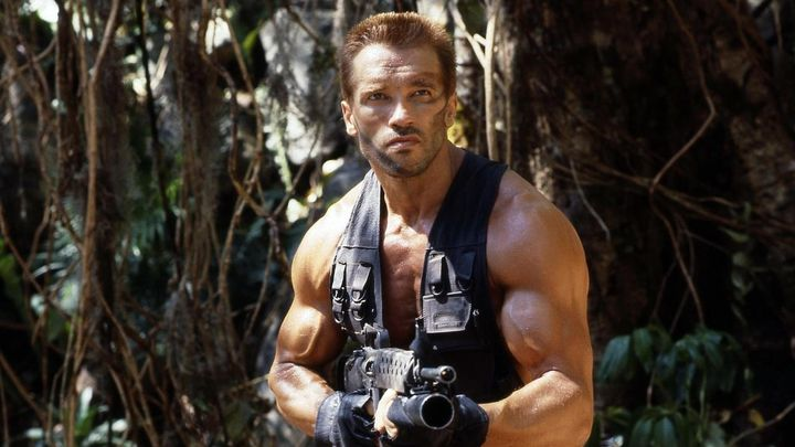 Una scena tratta dal film Predator