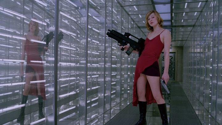 Una scena tratta dal film Resident Evil