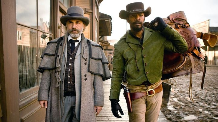 Una scena tratta dal film Django Unchained