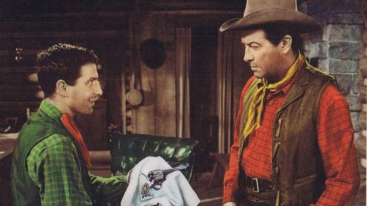 Una scena tratta dal film Lo Sperone Insanguinato