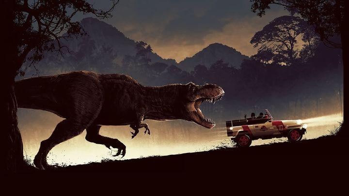 Una scena tratta dal film Jurassic Park