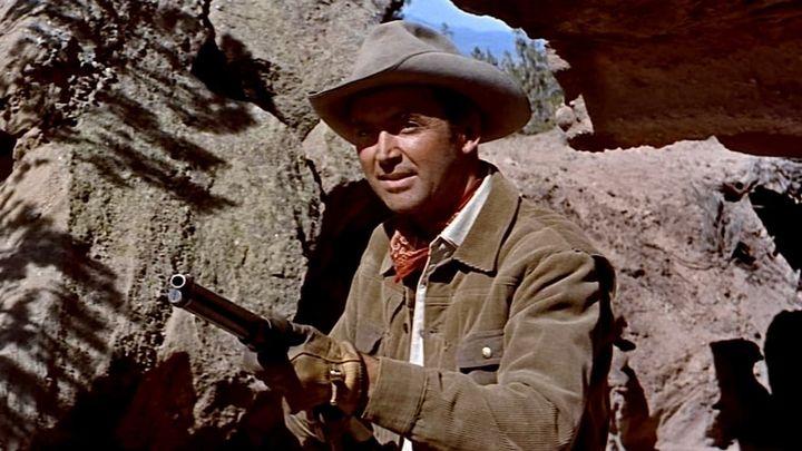 Una scena tratta dal film L'uomo Di Laramie