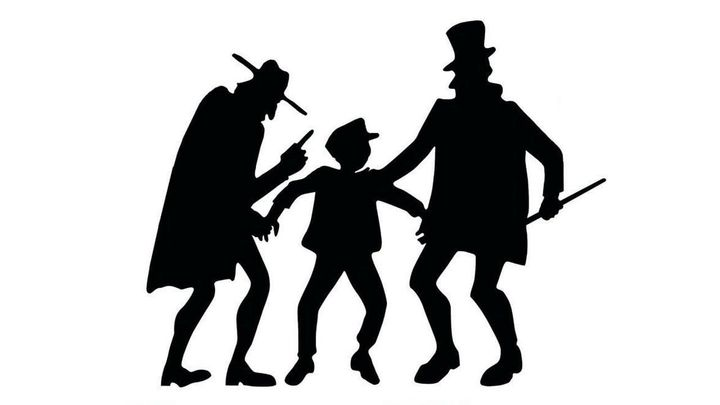 Una scena tratta dal film Oliver Twist