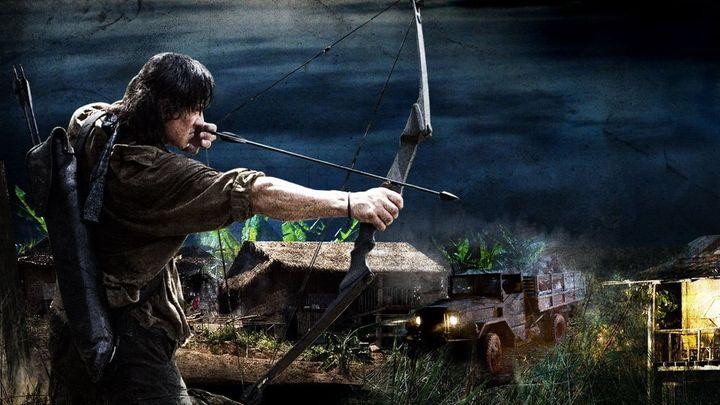 Una scena tratta dal film John Rambo