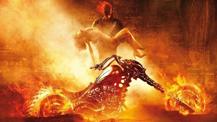 Una scena tratta dal film Ghost Rider