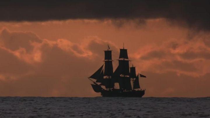 Una scena tratta dal film Il Bounty
