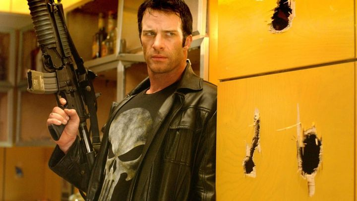 Una scena tratta dal film The Punisher