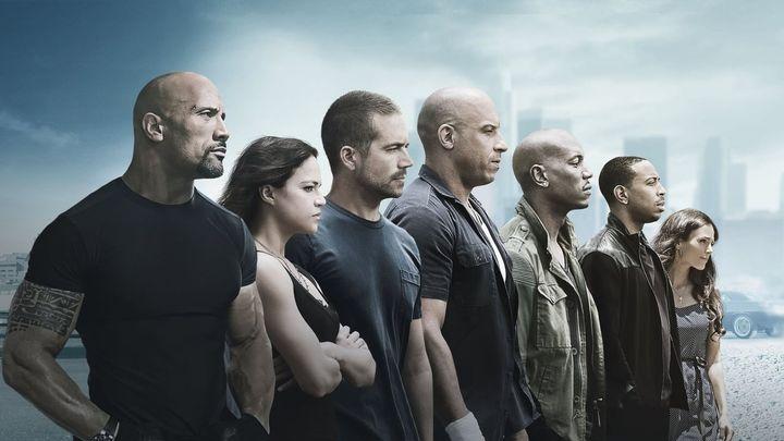 Una scena tratta dal film Fast & Furious 7