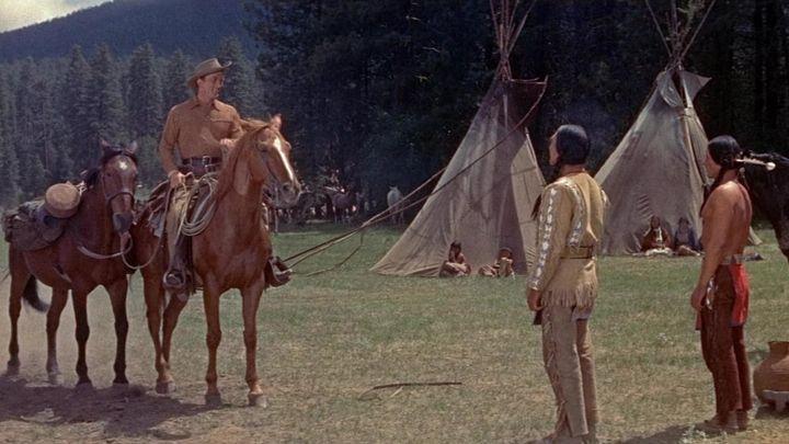Una scena tratta dal film Il cacciatore di indiani